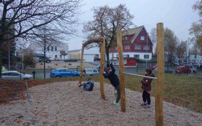 Initiative Weltoffenes Gohlis übergibt Spielplatz der Gemeinschaftsunterkunft Zschortauer Straße
